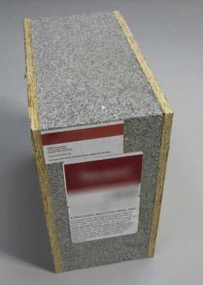 Structural Insulated Panels (SIPs) are plastic foam insulation between two layers of board, which can replace structural lumber studs and increase insulation power.