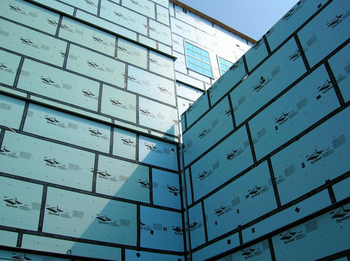 Extruded polystyrene foam sheathing insulation benefits for Styrofoam house construction