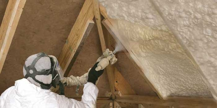 spray foam home and commercial roof insulation resists moisture